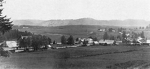 Rodná Řasnice na snímku ze třicátých let dvacátého století