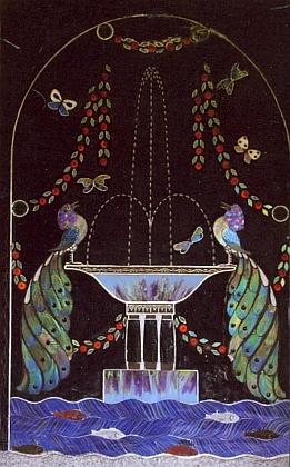 Spaunova vila v Klášterském Mlýně a skleněná mozaika při jejím vchodu