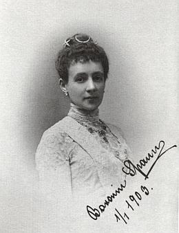 Baronka Auguste Spaunová na snímku z 1. ledna 1903
