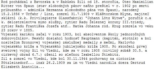 Ohlas ze Slovenska s doplněním dat Maxe Spauna juniora od pana Ivana Chudého