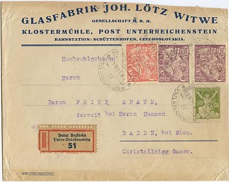 ... a firemní dopisní obálka z roku 1923