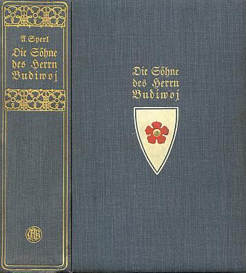 Vazba a hřbet s vinětou nakladatelství C.H. Beck třetího vydání knihy z roku 1913