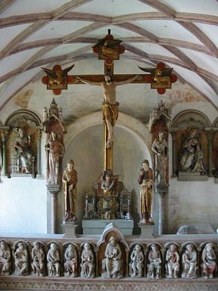Záběr z hradní kaple na zámku Trausnitz