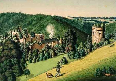 ... a ještě jedno zobrazení hradu z 19. století