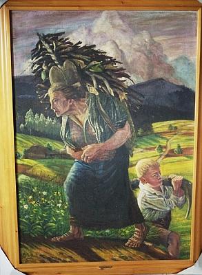 Jeho první olejomalba vůbec (1924) nese název Sběračka chrastí a vystavil ji šestnáctiletý roku 1926