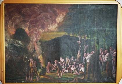 Z téhož roku je obraz Slunovratová vatra