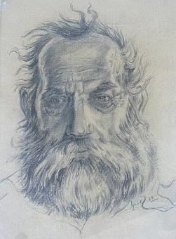 Kresba z roku 1933 je portrétem Georga Michela