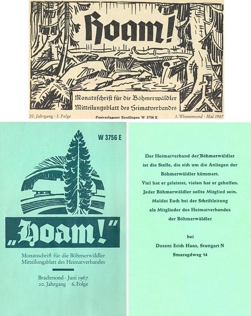 V roce 1967 na sebe takto navázalo jeho záhlaví květnového čísla měsíčníku Hoam! a první ze zelených obálek rovněž podle jeho návrhu, kterou neslo v pořadí další číslo červnové