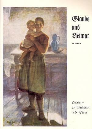 """Obraz na obálce krajanského časopisu nese tu název """"Doma ve světnici za zimního času"""""""