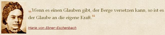 Jím užitá slova Marie von Ebner-Eschenbachové na webových stránkách německých literárních citátů