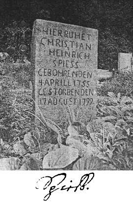 Hrob v Bezděkově a podpis