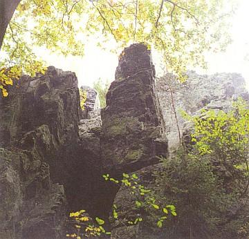 Buližníková skaliska tupadelská, útočiště šíleného už Spiesse