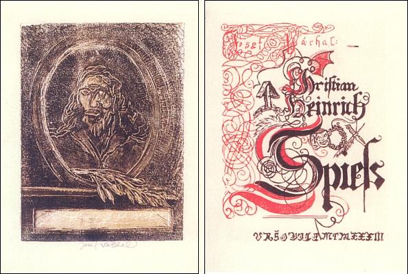 Josef Váchal ve své knize z roku 1933 vytvořil i portrét Spiessův