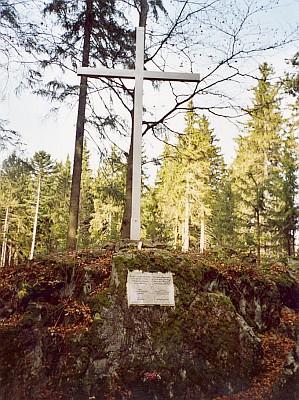 Vrcholový kříž na Jelením vrchu...