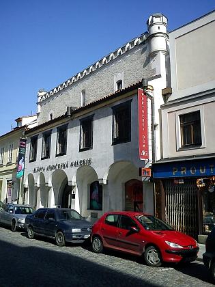 Wortnerův dům v ulici U Černé věže, dnes sídlo Alšovy Jihočeské galerie