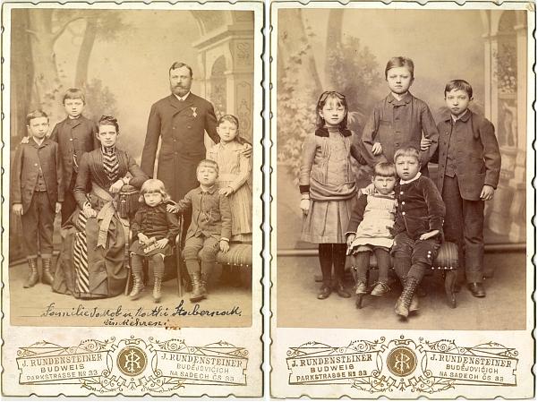 Rodinné snímky - s manželkou Katharinou a dětmi