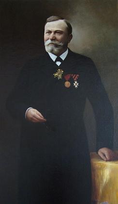 Jeho portrét restaurovaný péčí potomků