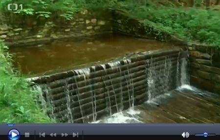 O plavení dřeva v Novohradských horách v reportáži České televize z cyklu Toulavá kamera