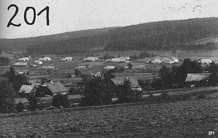 Černé Údolí na pohlednici firmy Josef Seidel č. 201