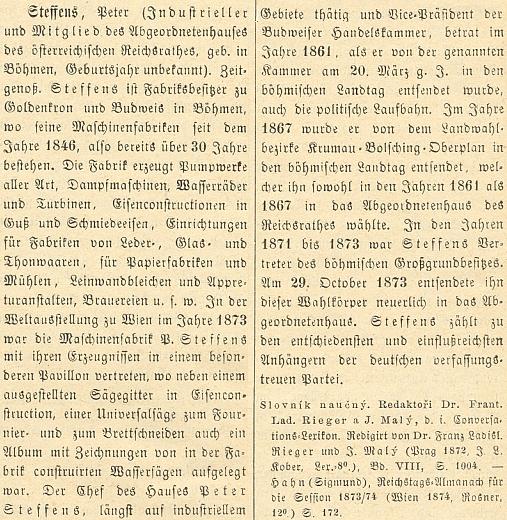 Jeho heslo ve Wurzbachově lexikonu osobností císařství rakouského