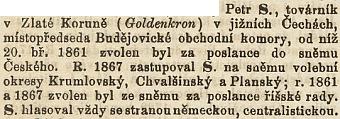 I Riegrův slovník naučný mu věnoval tuto krátkou zmínku
