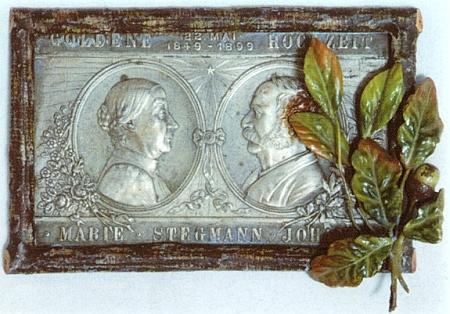 Poprsí manželů Marie a Johanna Stegmannových k jejich zlaté svatbě (1899)