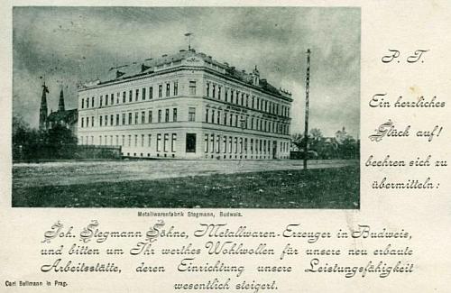 Pohlednice firmy Stegmann z konce 19. století
