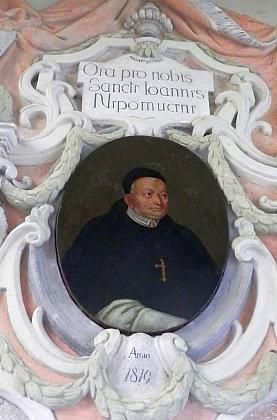 Znak opata Bernarda Pachmanna a portrét opata Matěje Ungara ze zlatokorunského kláštera