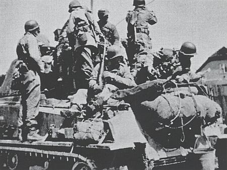 Americká armáda ve Vimperku v květnu 1945