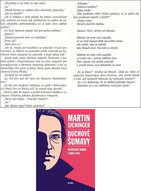 V románě Duchové Šumavy (2012) použil Martin Sichinger Steinbrenerovu báseň jako dějový motiv