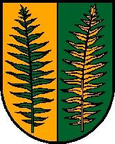 Znak hornorakouské obce Fornach, kde zemřela