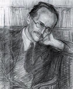 Na kresbě Josepha Hahna z roku 1945