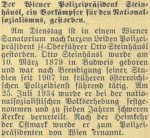 Takto Budweiser Zeitung informoval o jeho úmrtí