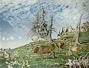 Otcův obraz Horská pastvina (1919)