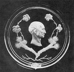 Medailon rytý ve skle s jeho portrétem vytvořil Dominik Biemann (1800-1857) někdy kolem roku 1830