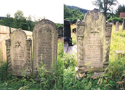 Náhrobky rodiny Sternscheinů na hřbitově pod Studencem