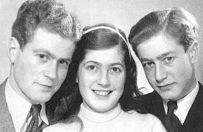 Děti Alfreda Sternecka: zleva Heinz (*1927), Elisabeth (1935-1996) a Alfred mladší (*1931)