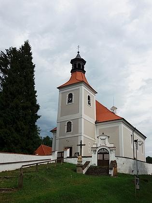 Doudleby s kostelem sv. Vincence