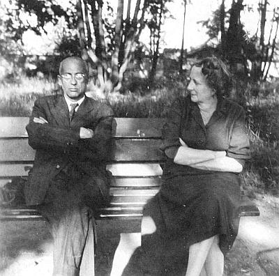 Jeho děd Bedřich Martin Daublebský s chotí Giselou, roz. Reiningerovou, na snímku z doby kolem roku 1960