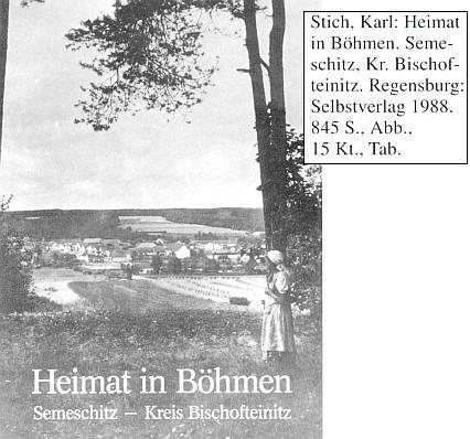 Obálka vlastním nákladem vydané knihy (1988) s pohledem na rodnou obec