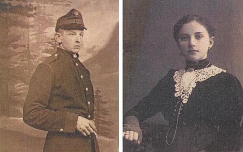 Oba rodiče na starých snímcích zamlada