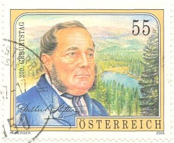 Poštovní známka k 200. výročí Stifterova narození