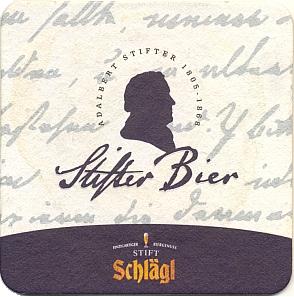 Jubilejní pivo Stifter z klášterního pivovaru v hornorakouském Schläglu