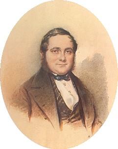 Na akvarelu M. M. Daffingera z r. 1846, který sám označil za nejvěrnější zachycení rysů svého obličeje
