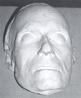 Posmrtná maska sejmutá Josefem Rintem (viz i Leo van Heemstede)