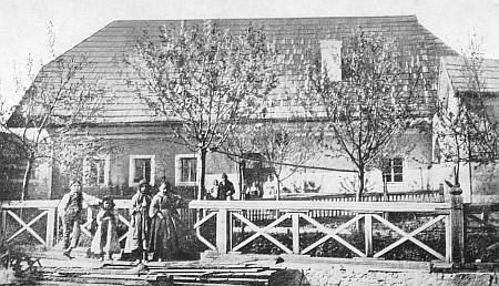 Nejstarší známý snímek Stifterova rodného domu z roku 1867...