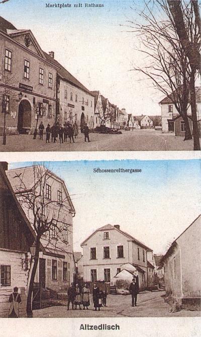 Staré Sedliště na staré pohlednici někdy z počátku 20.století...