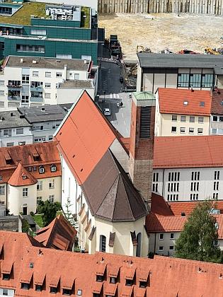 Ulmský kostel s. Michaela zu den Wengen, kde proběhl smuteční obřad