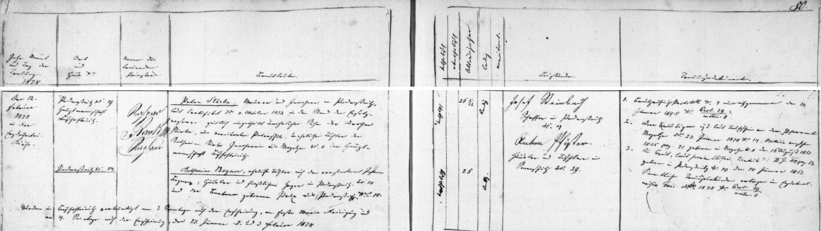 Záznam horšovotýnské oddací matriky o svatbě jeho rodičů ve zdejším arciděkanském kostele