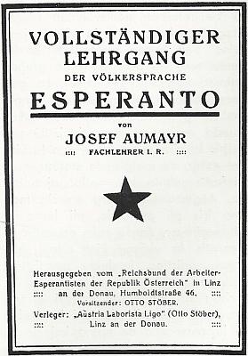 Obálka jedné starší rakouské učebnice esperanta ho na obálce uvádí jako čelného představitele tamního meziválečného esperantského hnutí